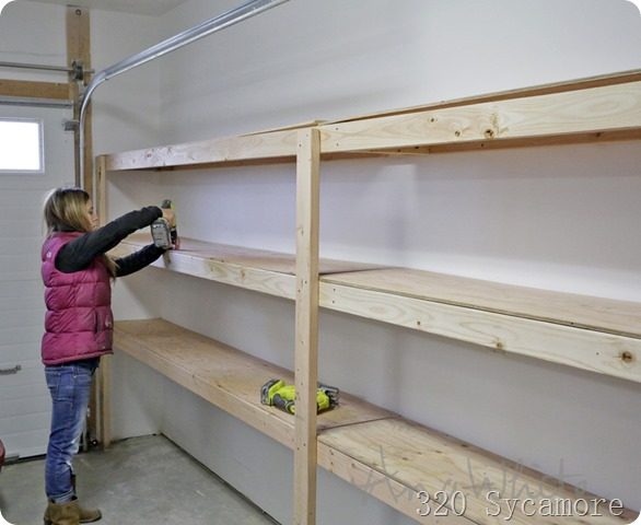 ana white garage shelves