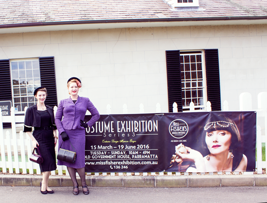 At the Miss Fisher Costume Exhibition, Old Government House | Lavender & Twill