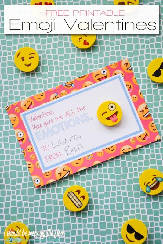 emoji valentine printables