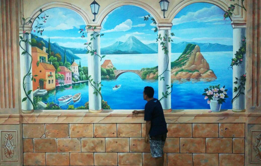 Gambar2 Lukisan Mural Pemandangan Seperti Nyata