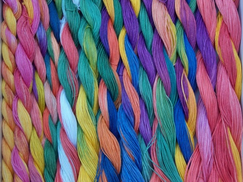 Lots of colourful thread!