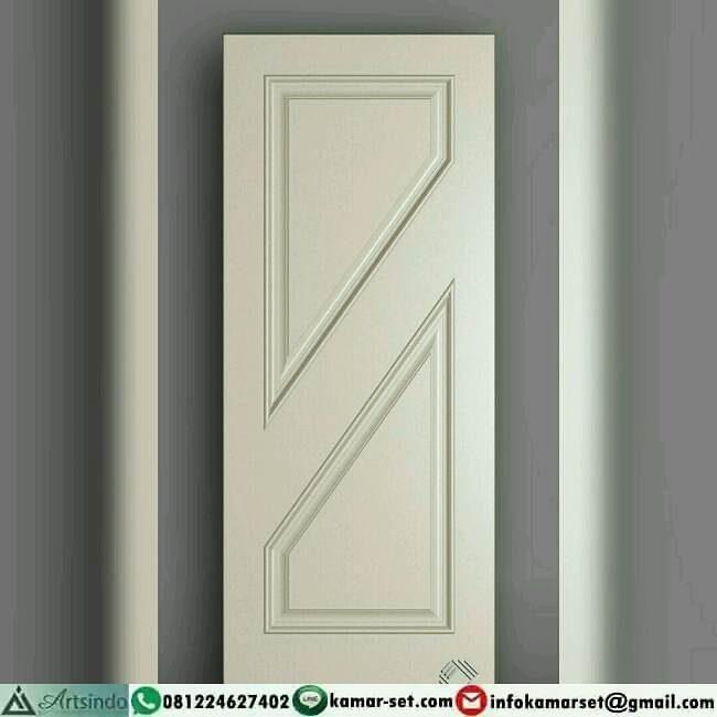 model pintu garis miring di tengah