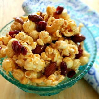 Spiced Maple Popcorn With Almonds and Cashews