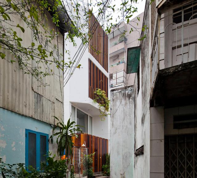 Mẫu nhà phố 140m2 trong ngõ hẻm vẫn đẹp xuất sắc