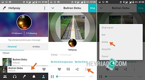 hasil karaoke sanggup kau lakukan dengan langkah berikut ini Cara Menghapus Lagu di Smule Android