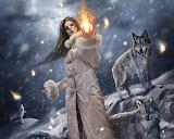 Girl In The Snowfall