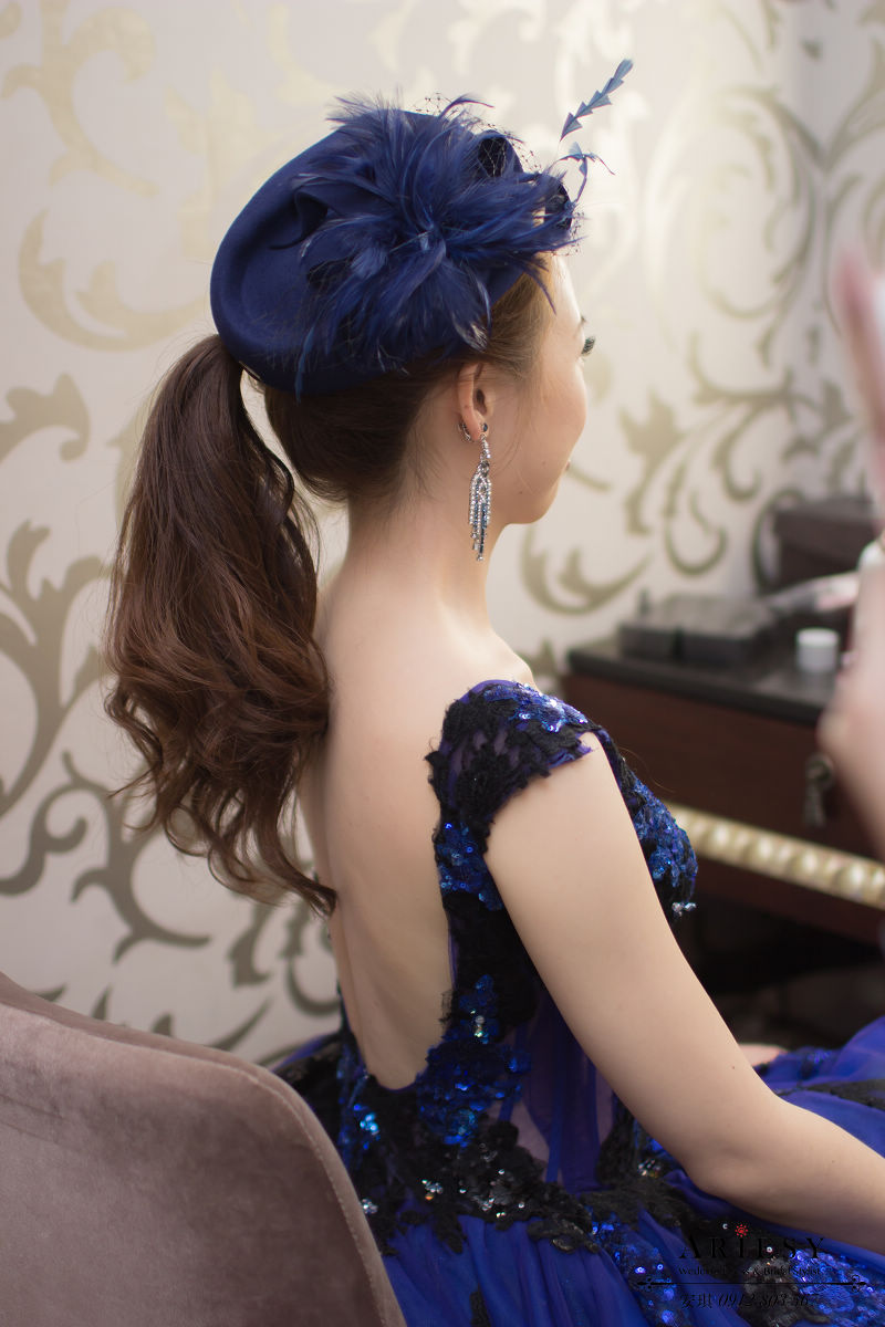 Ariesy造型團隊,安琪新娘秘書,台北新娘秘書,桃園富城閣,新娘輕透妝感,歐美風格,氣質名媛風,馬尾造型,Ariesy品牌訂製手工婚紗