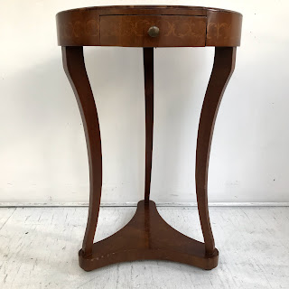 Trouvailles Inlaid Italianate Pedestal Table