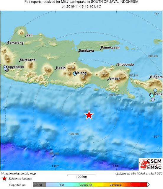 Gempa Guncang Malang, Jogja hingga Bali