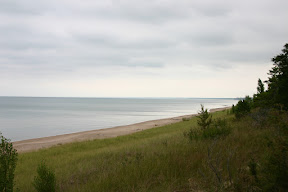 Looking out over Lake Huron