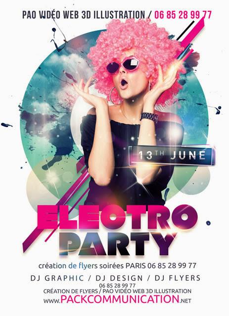 flyer soirée thème Electro Party 1a