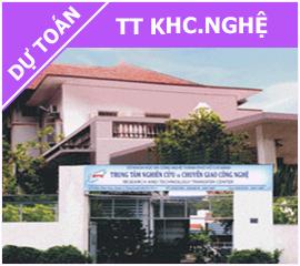 Dự toán TT KH Công nghệ