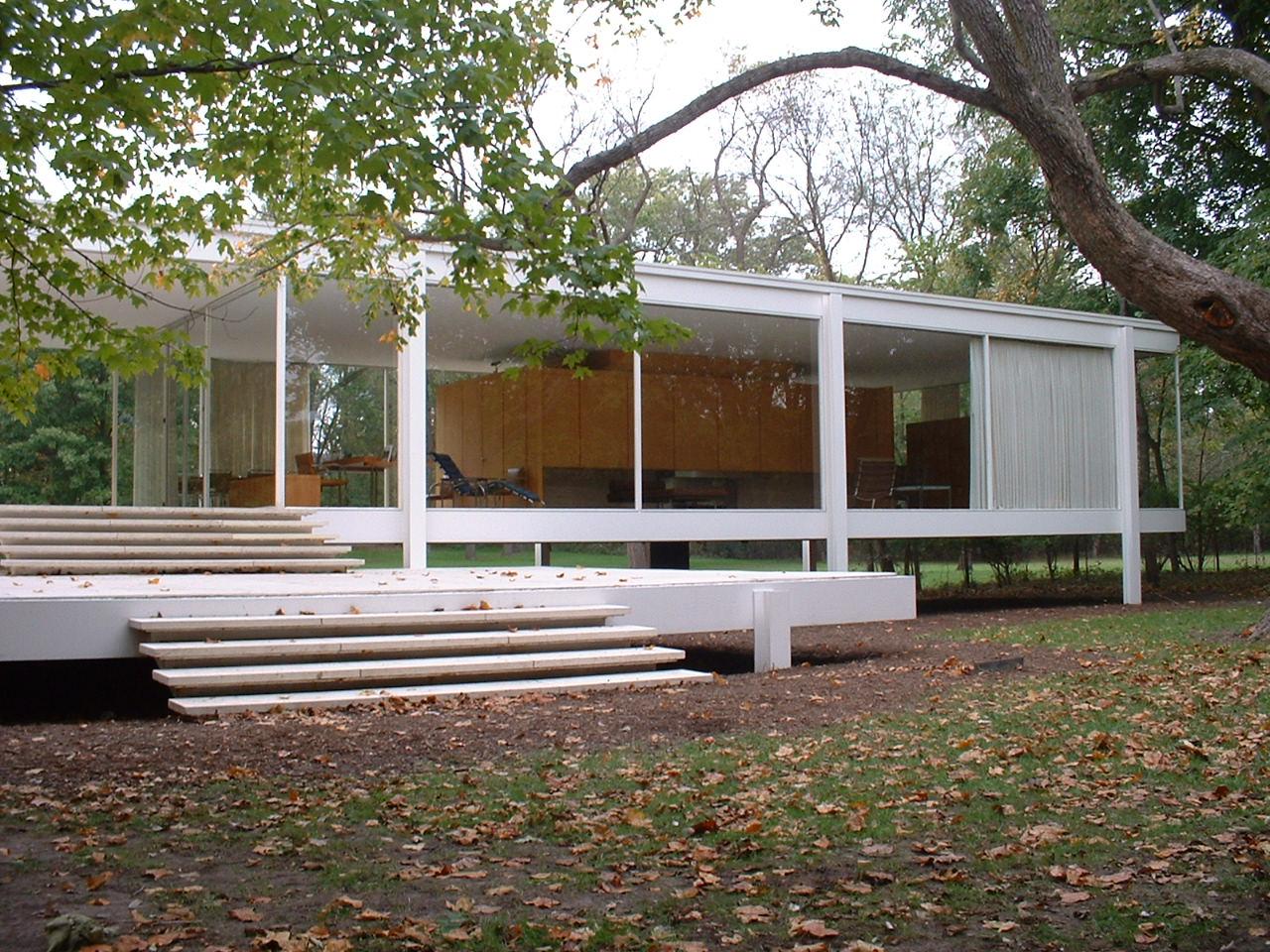 Habita o 1 2 3 casas antigas for Casa minimalista de mies van der rohe