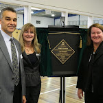 Opening Doncaster SC sports stadium with Principal Eva McMaster and Peter FitzGibbon