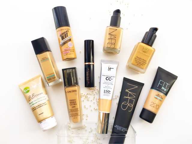 foundation collection, top foundations for oily combination skin, best full coverage foundations, best long wear foundations
