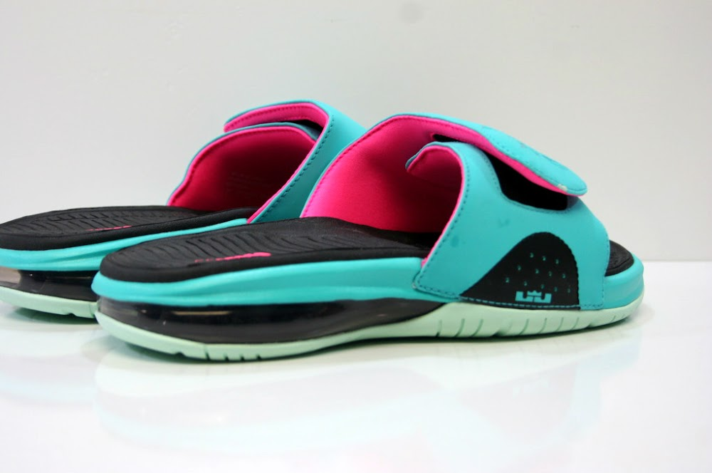 597262463 ... Nike LeBron Air Slide 8220South Beach8221 Available at Eastbay ...