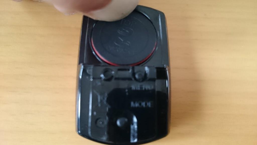 CATEYEのサイコンの電池交換の写真
