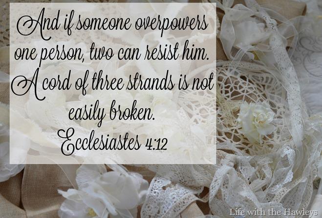 Lace Scripture Ecclesiastes 4-12
