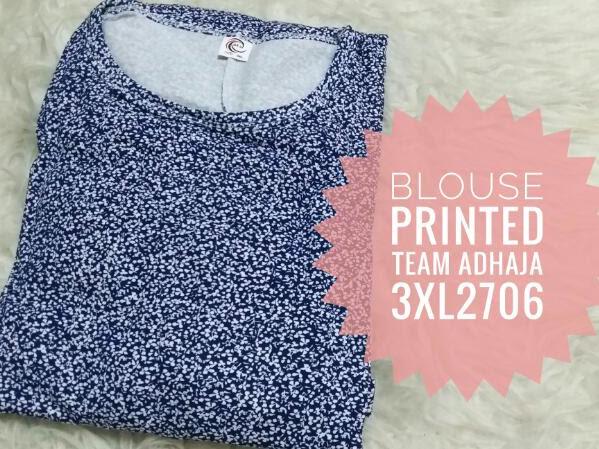 Blouse Printed Size Plus 3XL - 6XL