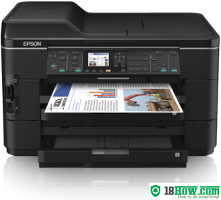 How to reset flashing lights for Epson WorkForce WF-7525 printer