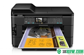 How to reset flashing lights for Epson WorkForce WF-7520 printer