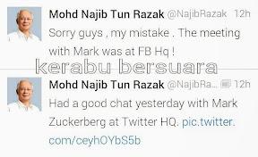 Najib Jumpa Mark Di HQ Tweeter?