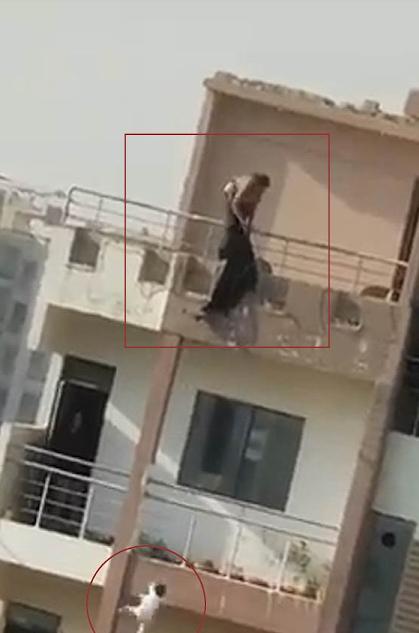 mother throw her daughter from sixth floor