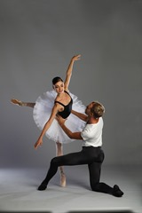 Photo: American Repertory Ballet, Princeton Ballet School DOUGLAS MARTIN, Artistic Director Mary Barton Ballet Master and Resident Choreographer Photo Call/photographed: Friday, August 25, 2017; 1:30 PM at Princeton Ballet School, Princeton, New Jersey; Photograph: © 2017 Richard Termine  PHOTO CREDIT - Richard Termine