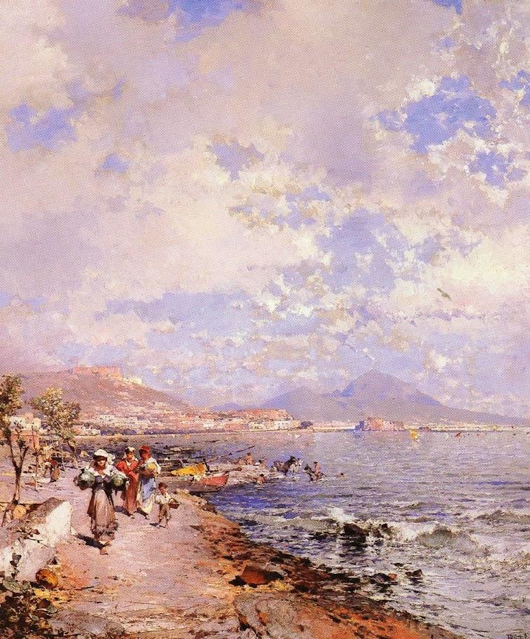 Franz Richard Unterberger - The Bay of Naples