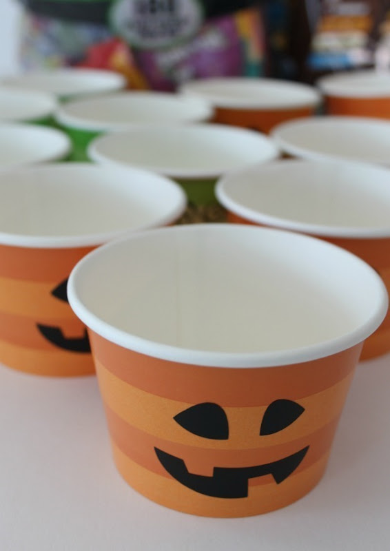 Halloween treat cups for party favors