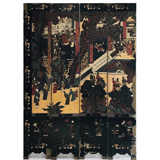 Lacquered Eight Panel Screen