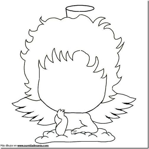angeles navidad colorear  (11)