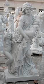 Cherub, Child, Female, Figure, Interior, Marble, Statues