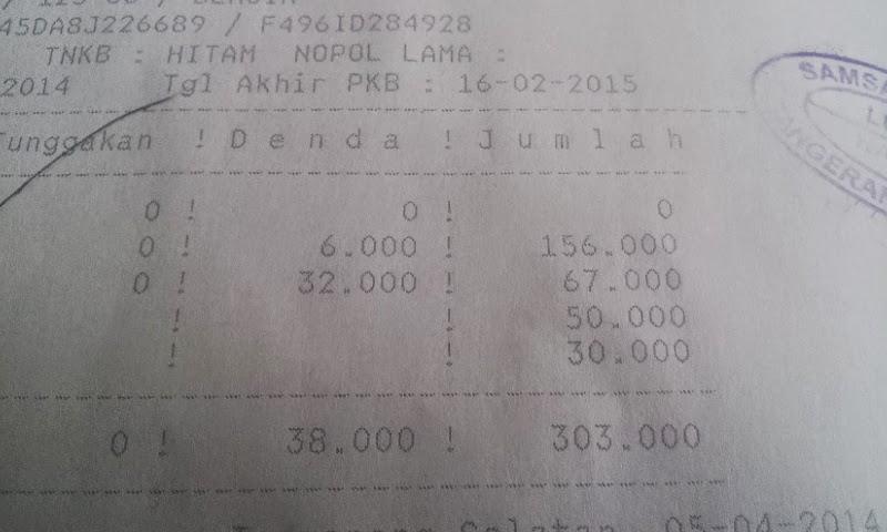 nota pajak yang harus di bayar di kasir
