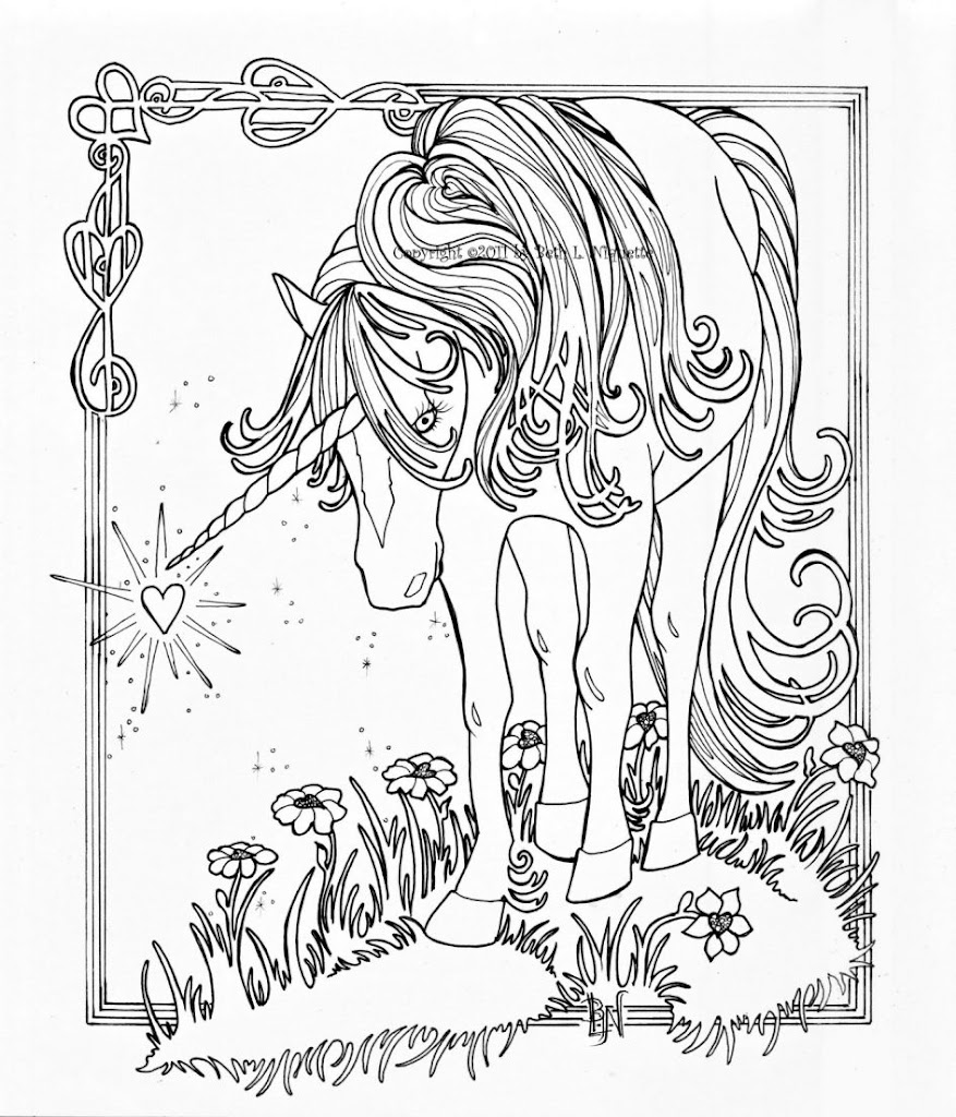 Best 15 Hard Unicorn Coloring Pages Photos