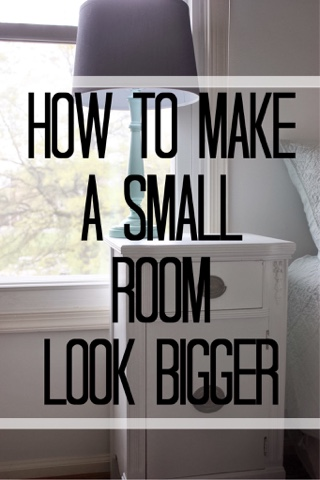 Lc interior 6 tips tricks for making a small room look - How to make a small space look bigger ...