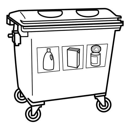 Pinto Dibujos Contenedor Para Reciclar Basura Para Colorear