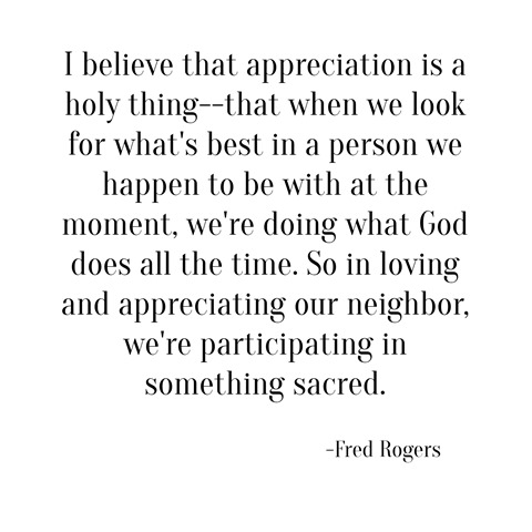 appreciation -- fred rogers
