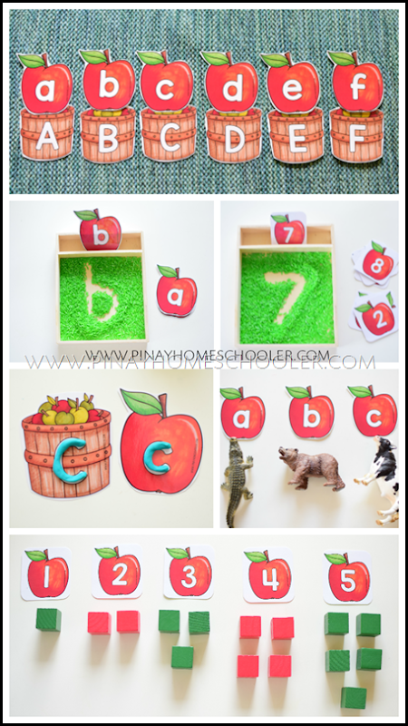 Apple Letter and Number Cards