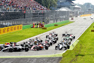 Start of the 2014 Italian F1 GP