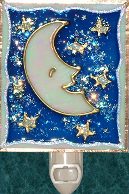 Moon stars deep blue