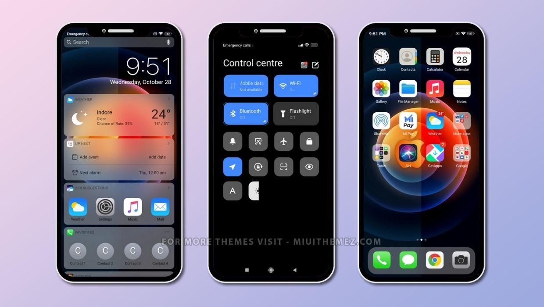 iOS 14.3.4 Stable v12 MIUI Theme