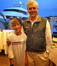 Youngest J/70 skipper- Joe Collins Jr with Rod Johnstone