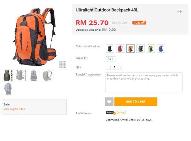 backpack di ezbuy malaysia