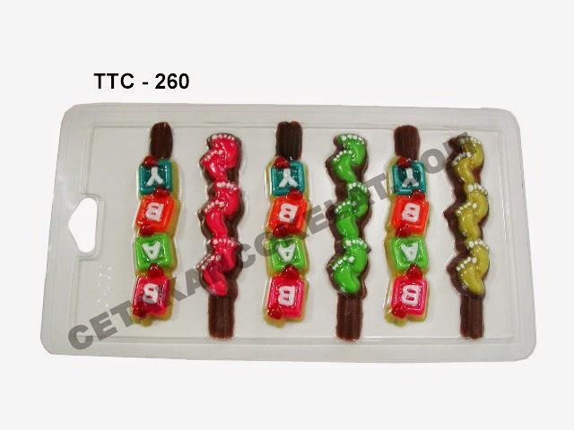Cetakan Coklat TTC260 Jejak Kaki Bayi Baby