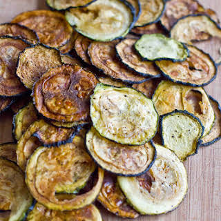 Easy Baked Zucchini Chips.