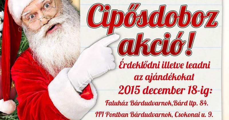 Cipősdoboz karácsonyi akció 2015