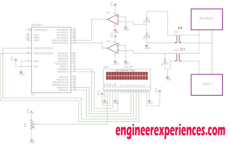 power factor measurement using atmega8   16