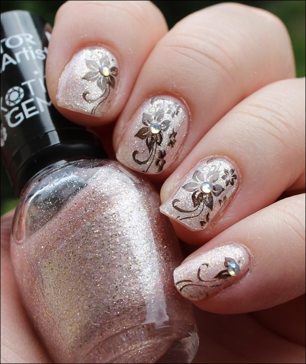 Nail Art Nageldesign Golden Summer Born Pretty BP-34 Stamping 02