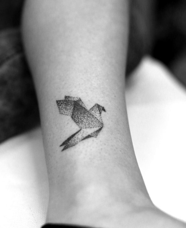Este dotwork pássaro